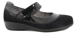 Drew Genoa  Mary Jane  Casual Shoes Black Stretch Size US 7 WW () 5708A - $125.00