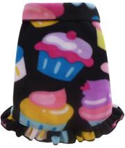 Cozy Fleece Cupcakes Pullover Ruffled Skirt Tank Dress - in Black Multi - $30.98+