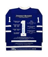 Johnny Bower Career Jersey Platinum Ltd Ed /11 - Autographed Toronto Map... - $1,100.00