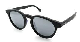 Fendi Sunglasses FF M0001/S 003T4 49-20-145 Matte Black / Silver Mirror Italy - $196.00