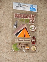 NEW Paper House 3D Stickers Roughin' It Camping Tent Camp S'Mores - $3.99