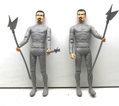 "2 pc 1968 Vintage Marx Toys 1968 USA Silver Knight Sir Stuart 12"" Action... - $42.06"