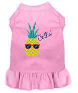 Pineapple Chillin Embroidered Dog Dress Light Pink 4x - $26.85