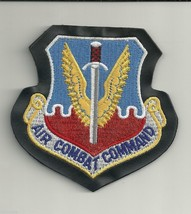 Air Force Air Combat Command Leather Hook Loop Embrbroidered Patch - $15.33