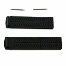 Black Silicone Rubber Strap without Buckle for Tissot T-Race T044417 T04... - $24.42