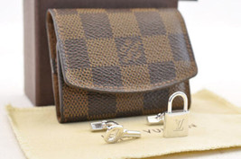 Louis Vuitton Damier Cuff Case And Cuff Links Silver Lv Auth 3408 - $298.00