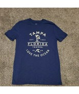 MV Sport Womens M Navy Tampa Florida Love the Ocean Short Sleeve Tshirt Tee - $14.99