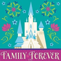 16 Disney Frozen Forever Party Disposable 5in 2ply Beverage Napkins Serv... - £2.28 GBP