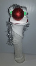 "D4 * Basic Custom ""Silver Mane of Hair""  Sock Puppet * Custom Made - $5.00"