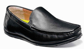 Mens Florsheim Draft Moc Toe Venetian Driver Black Leather Shoes [13310 ... - $79.95