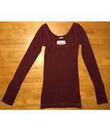 Abercrombie Girl's Maroon Long Sleeve Scoop Neck Shirt - Size: Large - $14.84