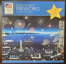 Great American 1500 Pc Puzzle Statue Of Liberty Fireworks By Kathy Jakobsen - $23.27