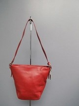 COACH Red Legacy Adjustable Strap Leather Silve... - $89.10