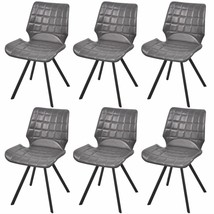 vidaXL Set of 6 Dining Office Living Room Kitchen Chairs Artificial Leat... - $225.99