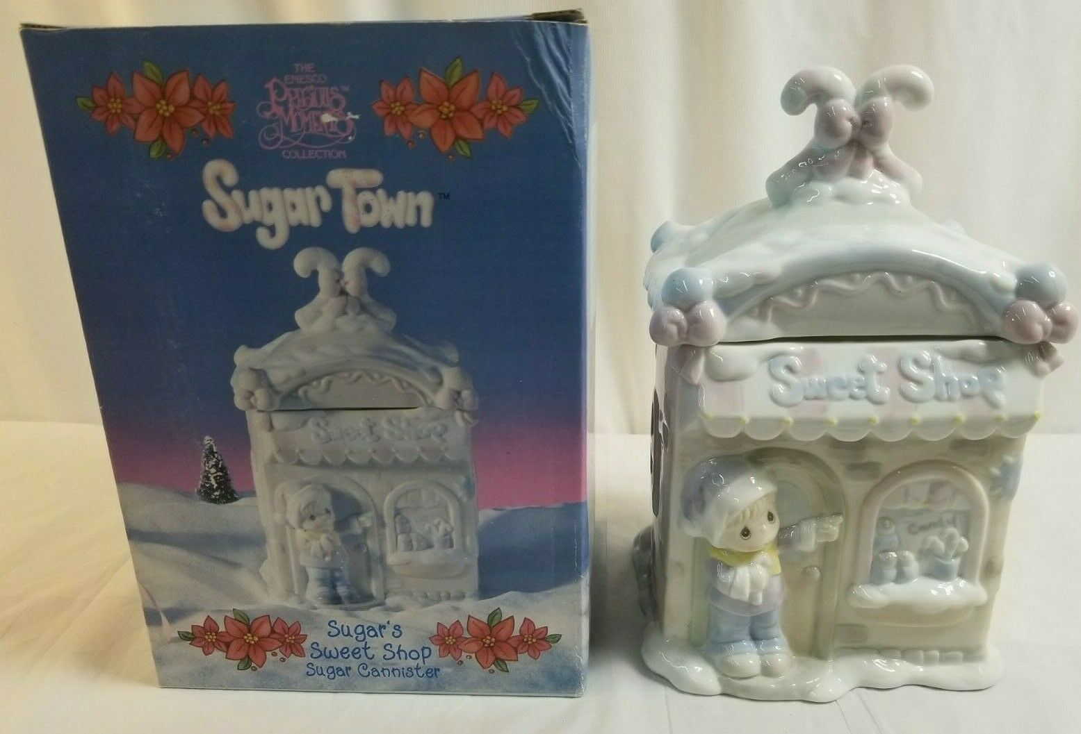 "Primary image for 1994 PRECIOUS MOMENTS Sugar Town ""Sugar's Sweet Shop Sugar Canister"" #603309"