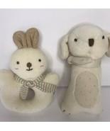 John N Tree Organic Bunny Dog Rattle Set Baby Plush Soft Toy  - $16.39