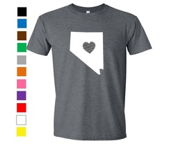 Nevada Shirt Love Home Heart T-Shirt Funny Humor State Apparel College - $12.59+