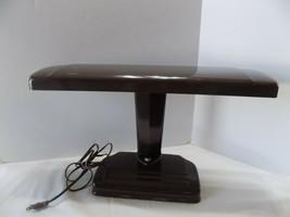1950'S Industrial Era Architect Banker Desk Lamp Brown Metal (r3-8 - $26.73