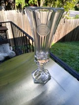 "Fostoria Coin crystal 8"" footed bud vase - $8.99"