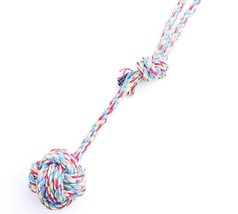 Long Cotton Rope Pet Dog Toy Hand Chain Ball Tooth Cleaning Puppy Traini... - $21.60