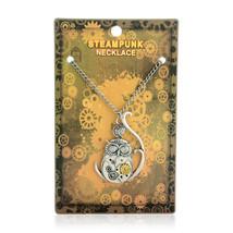 Vintage Classic Steampunk Owl Gear Pendant Necklaces - $17.99