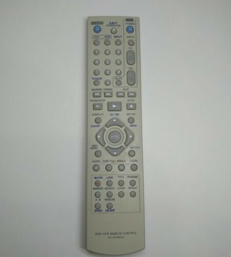 Genuine OEM Zenith/LG Combo DVD/VCR Remote Control 6711R1P072J TESTED WORKS