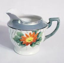 Vintage Chikaramachi Creamer Handpainted Lusterware Orange Flower Japan - $12.33