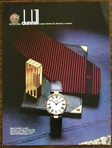 1979 Alfred Dunhill of London Men's Accessories PRINT AD Tie Lighter Watch - $11.69