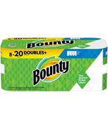 BOUNTY 8 DOUBLES PLUS = 20 REGULAR ROLLS WHITE PAPER TOWEL ROLL PACK - $69.99