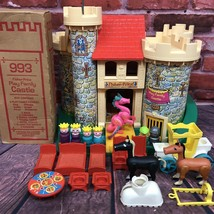 Vintage Fisher Price Little People Play Family Castle Pink Dragon #993 COMPLETE - $275.00