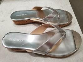NEW Jimmy Choo Pathos Silver Thong  Sandal Shoes Size 38.5 (8) - $292.05