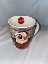 Vintage Themed Coca Cola Santa Claus Christmas Oversized Coffee Mug - $19.10