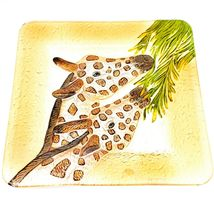 """Jaco Handcrafted Fused Glass Giraffe 12"""" Square Decorative Plate Platter image 3"""