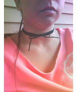 Triple Wrapped Black Suede Bow Choker Necklace Triple Layered Choker Bla... - $64.00