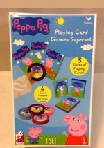 Peppa Pig Deluxe Playing Cards Games Superset   Card Holders Cardinal TOY  - $15.83