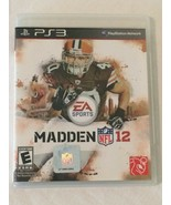 PS3 Sony PlayStation 3 Madden NFL 12 Video Game with Case Instructions M... - $5.99