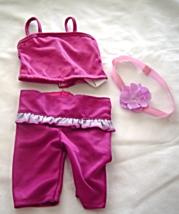 "Fushia Spaghetti Strap Outfit Headband Fit 18"" Doll American Girl Our Ge... - $9.99"