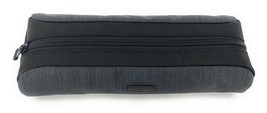 Tumi Accent Cord Pouch Charcoal Grey Travel Accessory Zipper Bag - $59.39