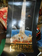 """Great Unframed Poster- CHALLENGE TRADITIONS Manned Flight Awareness 38""""x19"""" - $19.39"""