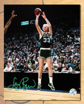 Larry Bird Boston Celtics Autographed Basketball Shot 8x10 Photo - Bird ... - £164.27 GBP