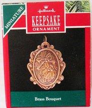 """Brass Bouquet"" 1990 Miniature Hallmark Ornament [Brand New] - $10.37"