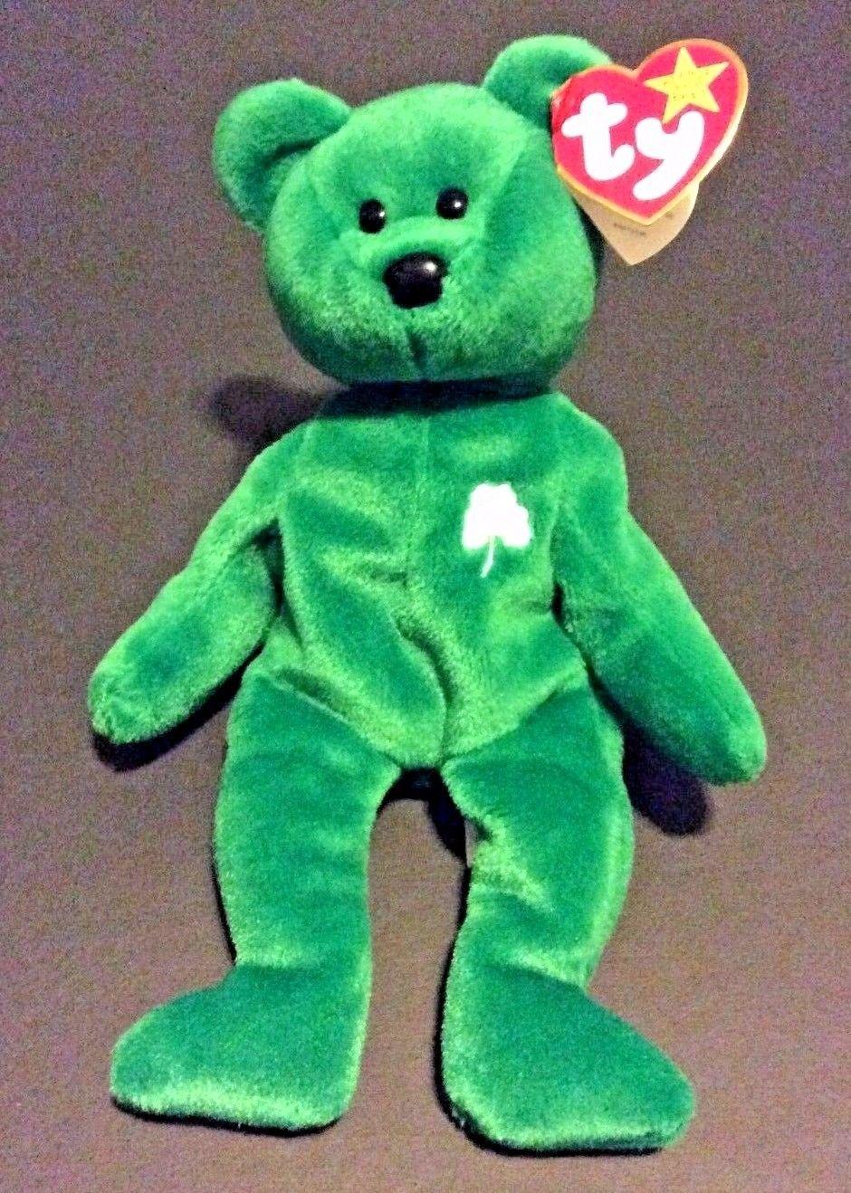 da57f7fb3a1 S l1600. S l1600. Ty Beanie Babies Retired 1997 Erin Shamrock Green Bear. Ty  Beanie Babies Retired ...