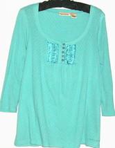 WOMEN'S BLUE BUTTON FRONT KINT SIZE M DKNY JEANS - $9.00