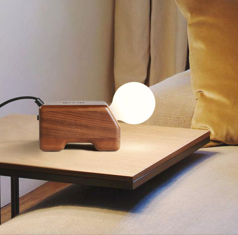 Primary image for Wood Wireless Charging Phone Charger Desk Table Lamp E27 Light Home Lighting