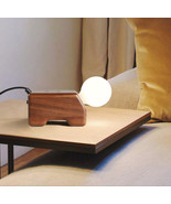 Wood Wireless Charging Phone Charger Desk Table Lamp E27 Light Home Ligh... - $99.85
