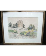 Newman, Benjamin Tupper (1858-1940) Fryeburg, Maine Watercolor of Casco ... - $284.99