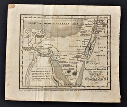 1830 antique EGYPT to CANAAN MAP journey ISRAELITS publish A.S.S. UNION ... - $42.50