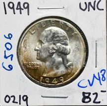 1949 George Washington Quarter 90% Silver Coin Lot# CV48