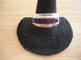 QVC Sterling Silver Purple Amethyst Channel Set Ring ~ Size 7 - $24.09