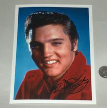 """6X8 """" Couleur Image Photo Elvis Presley Souriant, Happy W/Imprime Signature - $27.61"""